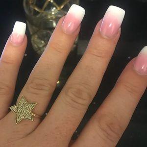 Jewelry - Authentic Sydney Evans Gold n diamond star ring.